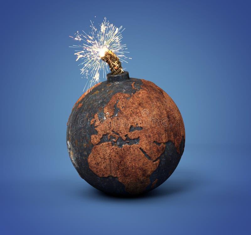 Palla di cannone come la terra fotografia stock libera da diritti
