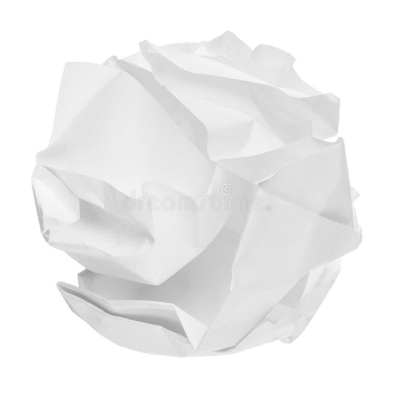 Palla di carta sgualcita immagini stock