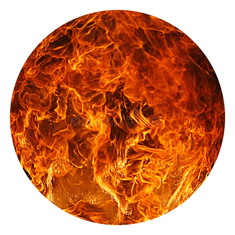 Palla di fuoco fotografia stock