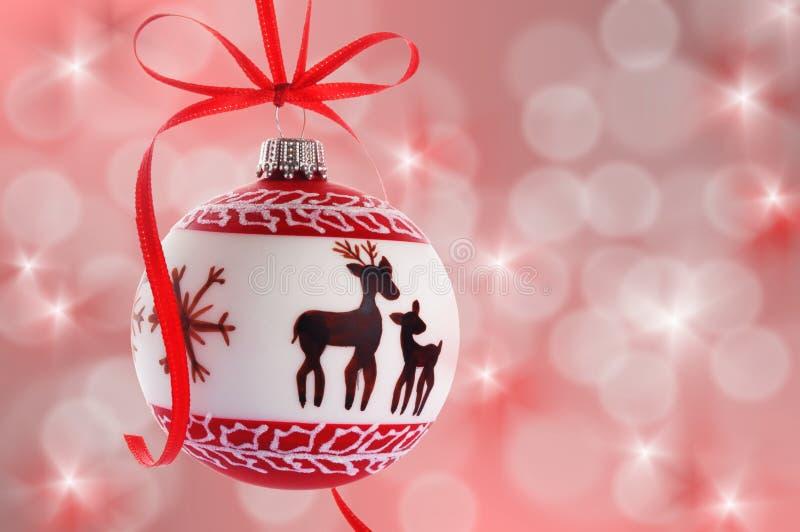 Palla di Natale immagini stock