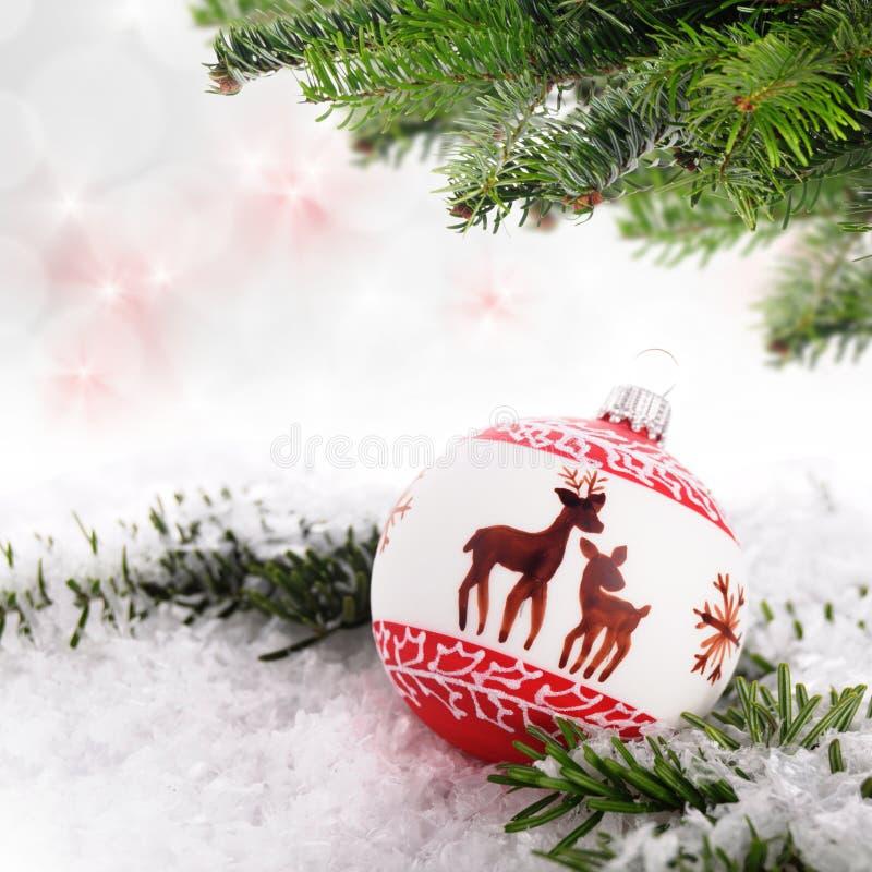 Palla di Natale fotografie stock