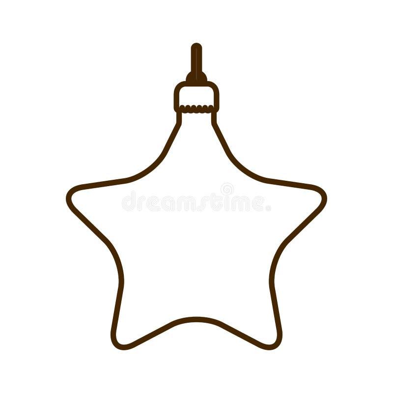 Palla di Natale con forma della stella che appende icona isolata royalty illustrazione gratis