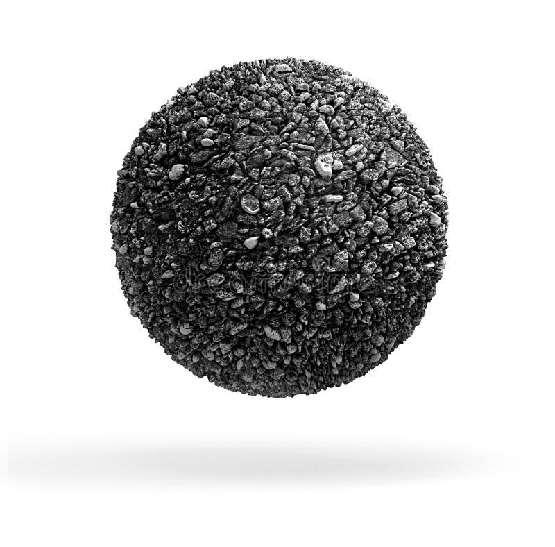 Palla di pietra fotografia stock