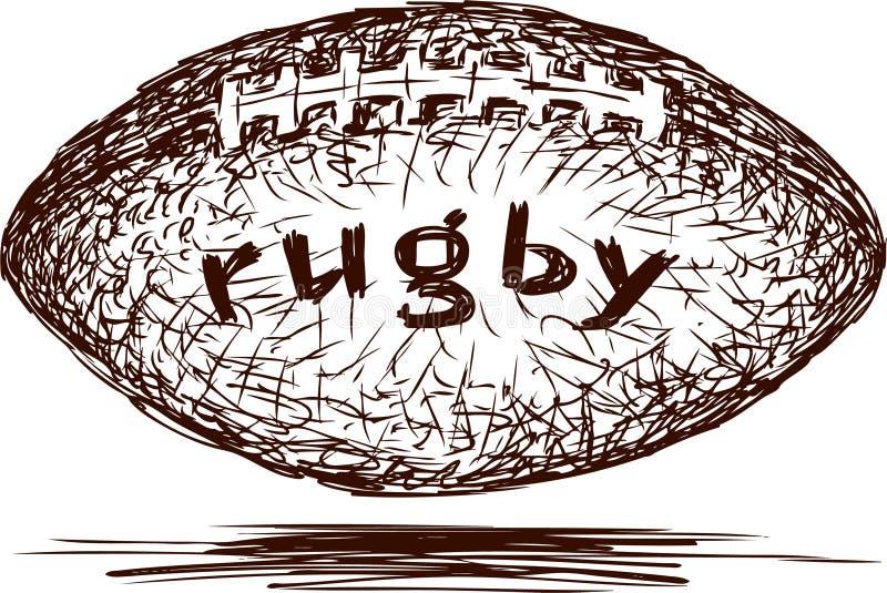 Palla di rugby illustrazione vettoriale