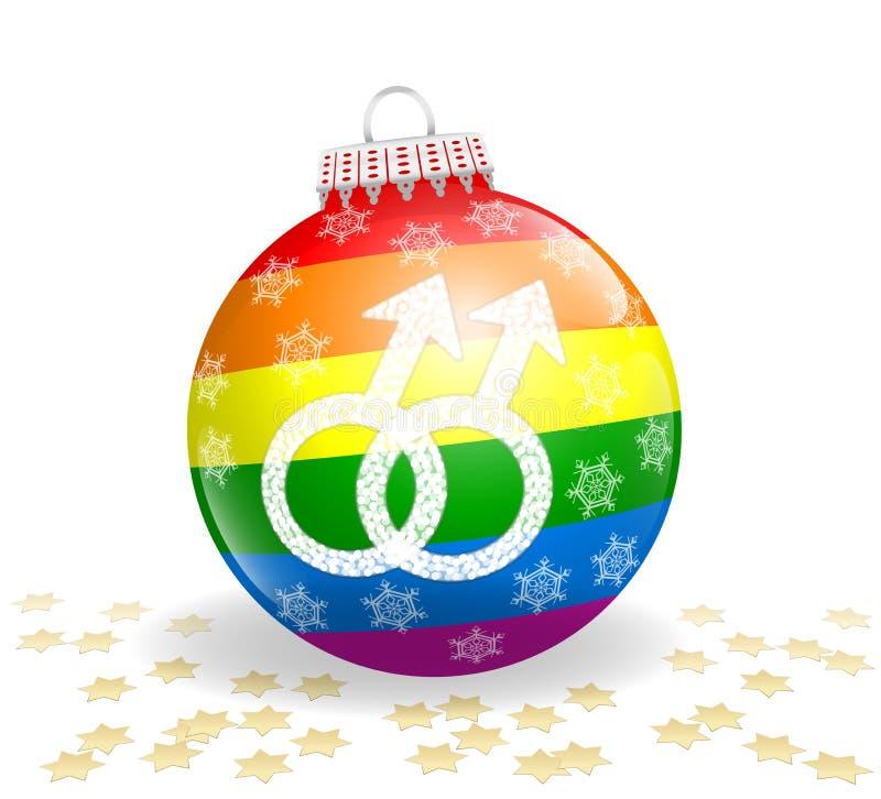 Palla gay di Natale illustrazione di stock