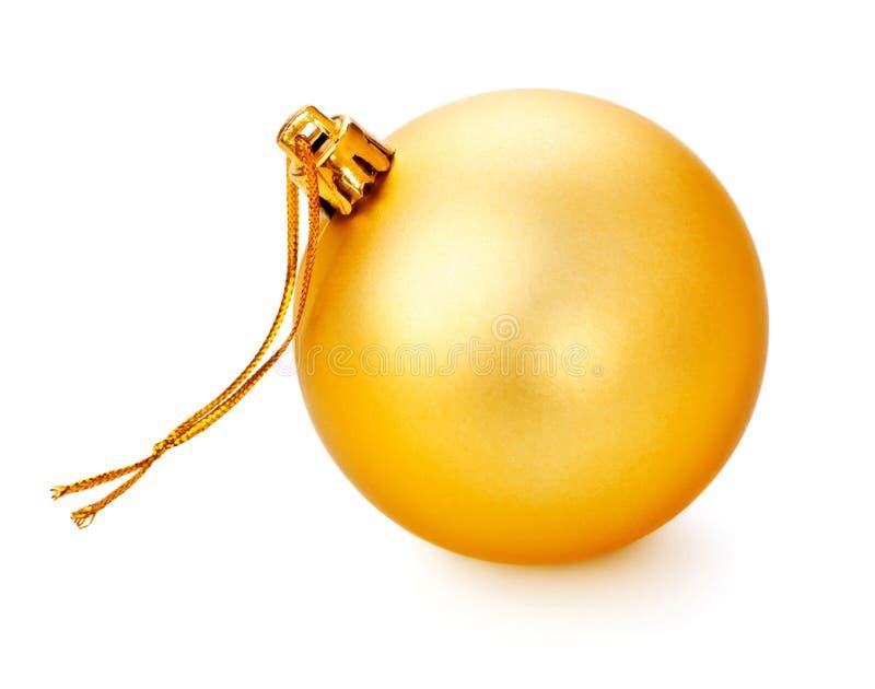 Palla gialla di Natale fotografia stock
