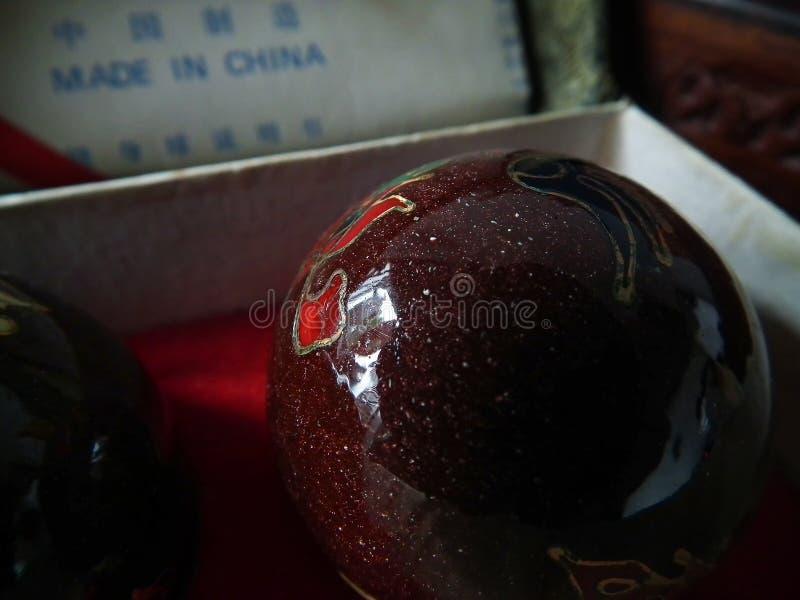 Palla medica cinese fotografia stock libera da diritti
