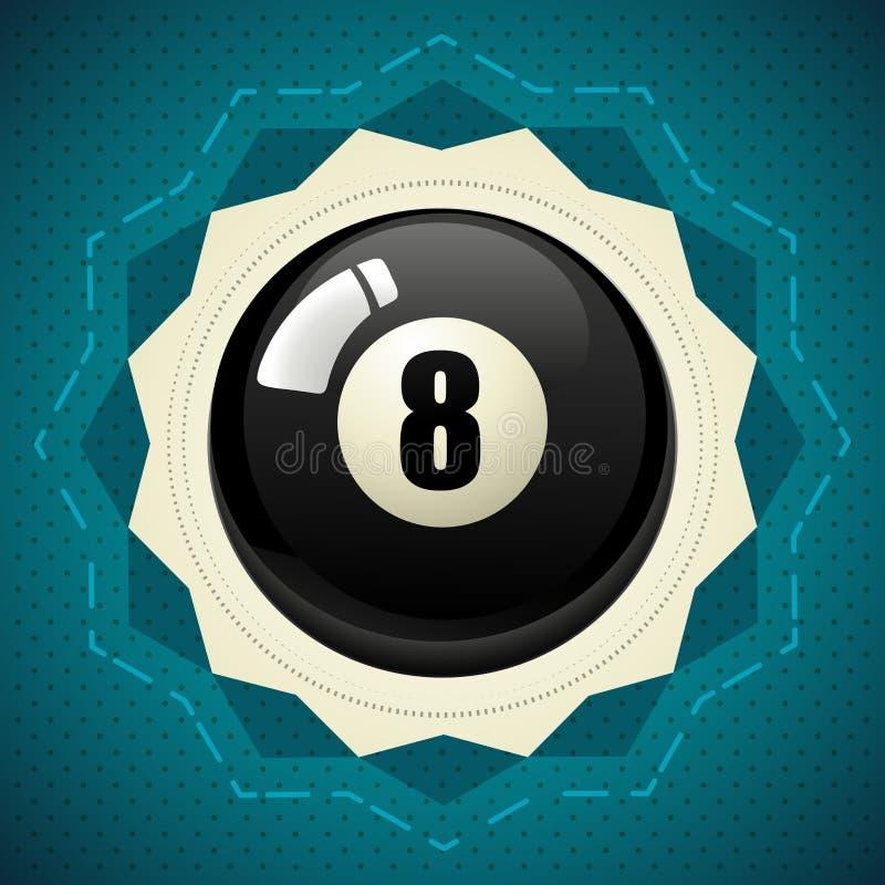 Palla nera numero otto dello stagno illustrazione di stock