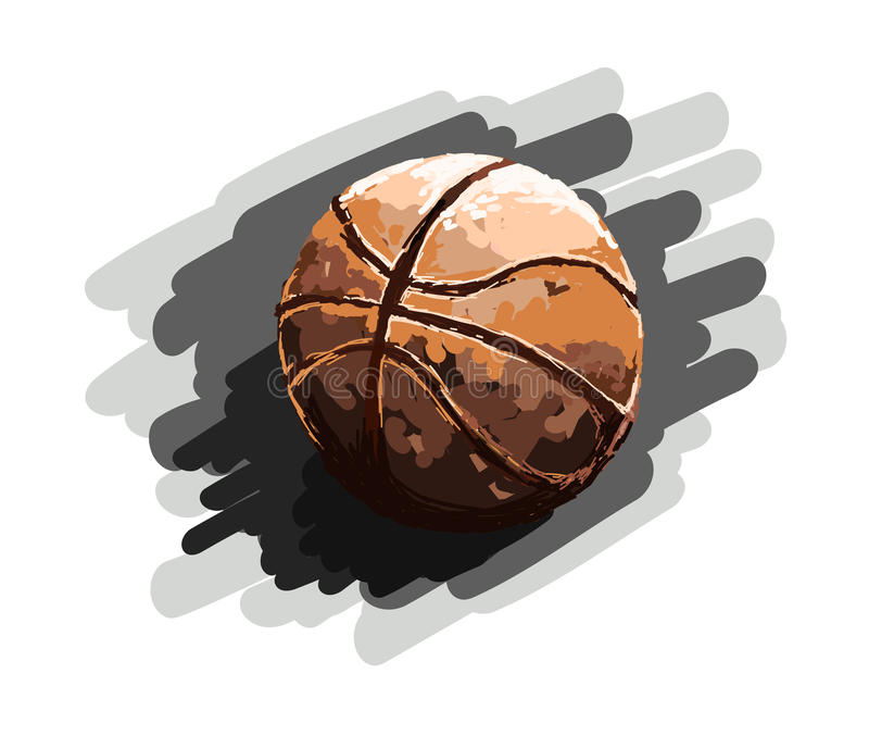 Palla, pallacanestro, sport, dipingente royalty illustrazione gratis