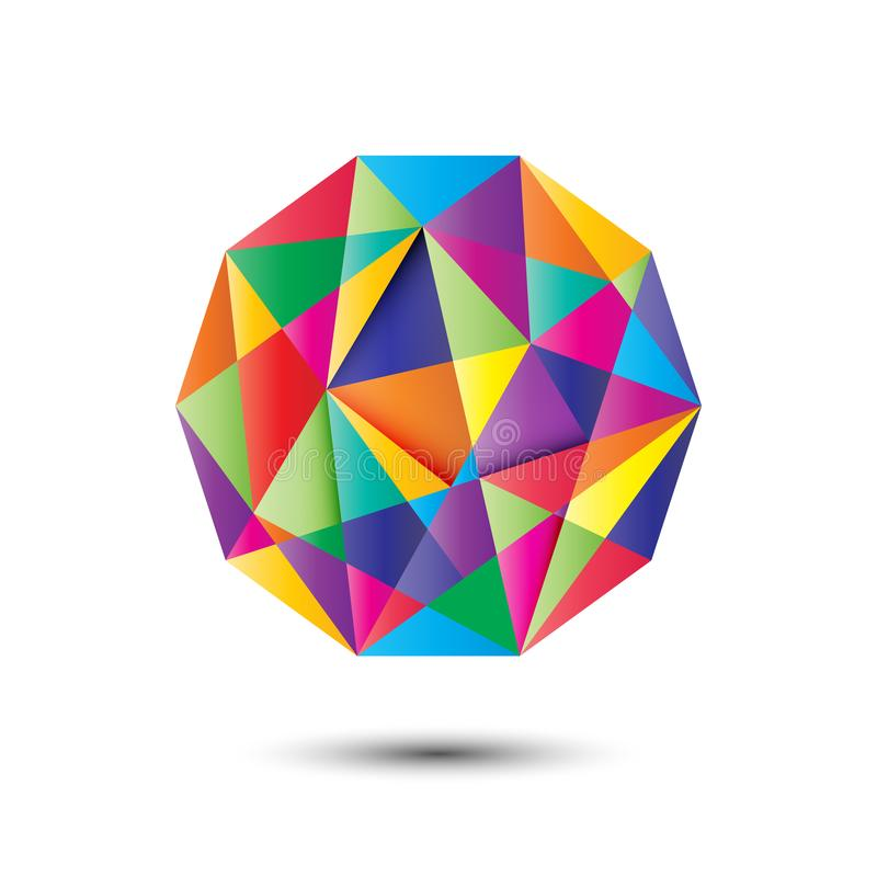 Palla variopinta del poligono illustrazione vettoriale