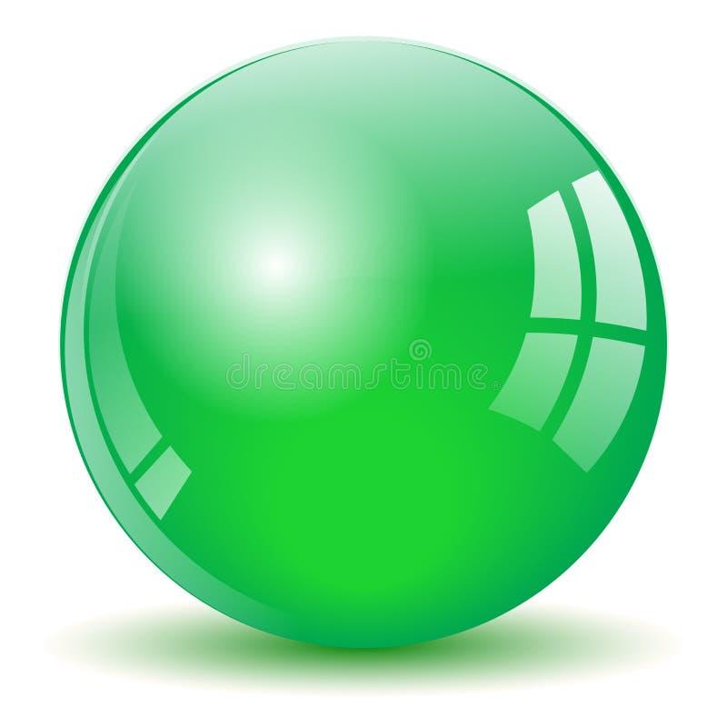 Palla verde della sfera royalty illustrazione gratis