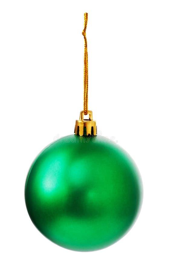 Palla verde di Natale immagine stock libera da diritti