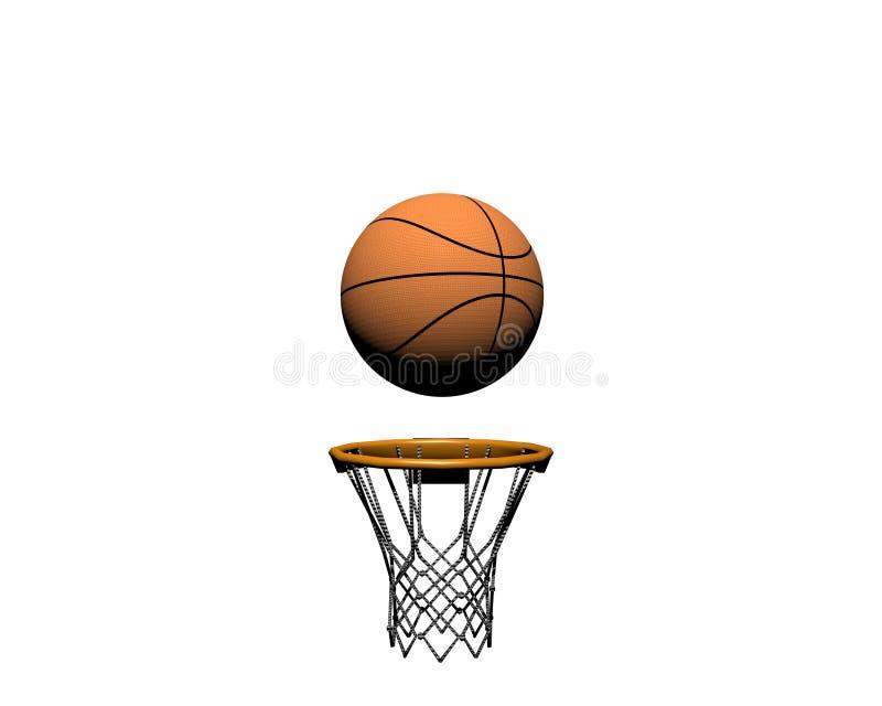 pallacanestro 3d isolata su un bianco royalty illustrazione gratis
