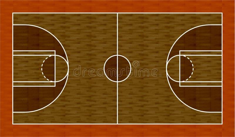 pallacanestro del programma 3D illustrazione vettoriale