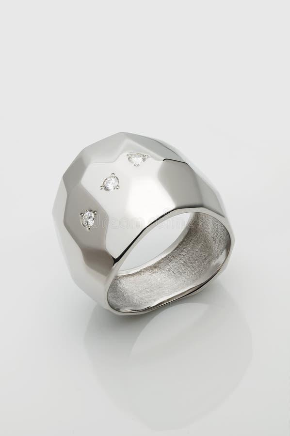 Palladium/ Platinum ring stock photo