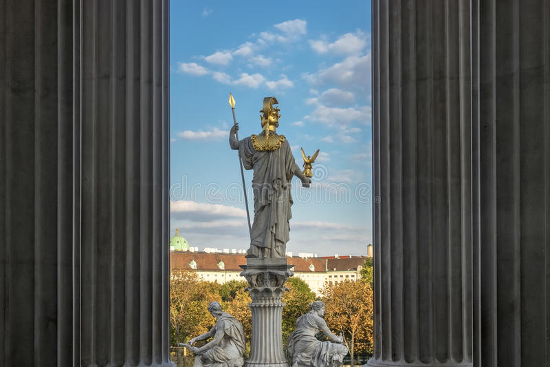 Pallas Athene stockbild