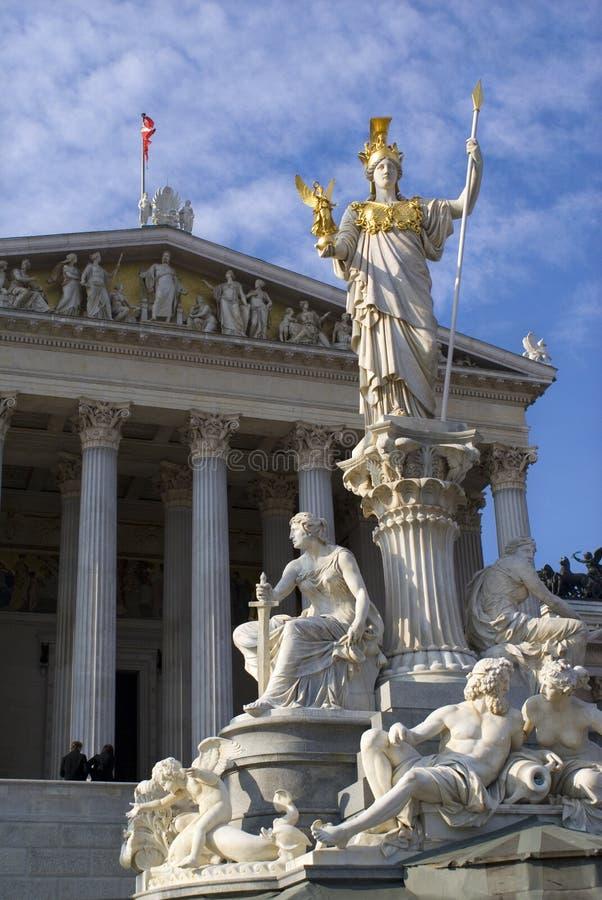 Pallas Athene Vienna sculpture stock photo