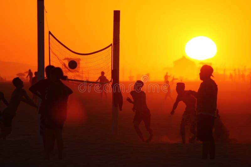 Pallavolo della spiaggia fotografie stock libere da diritti