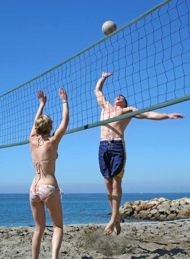 Pallavolo della spiaggia immagine stock