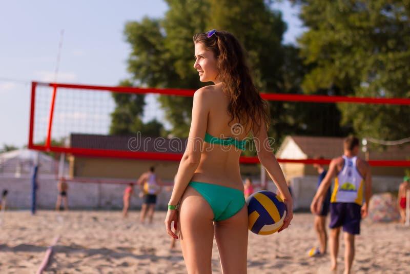 Pallavolo della spiaggia fotografie stock