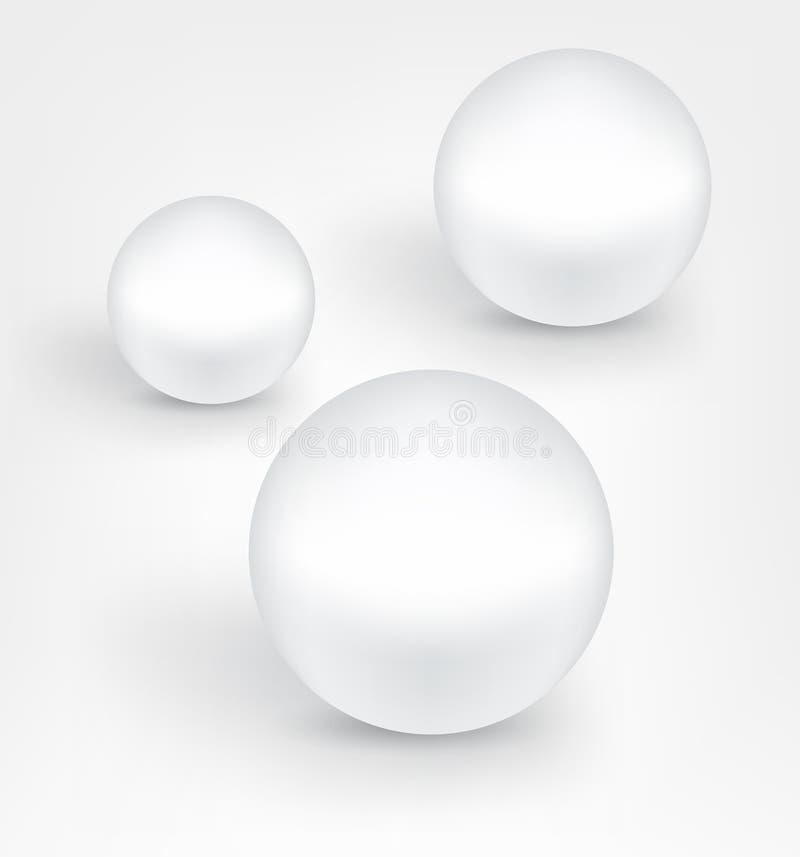 Palle bianche della perla royalty illustrazione gratis