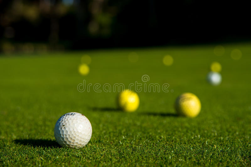 Palle da golf fotografia stock libera da diritti