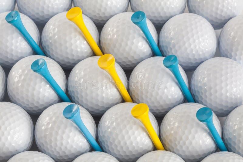 Palle da golf e T immagine stock