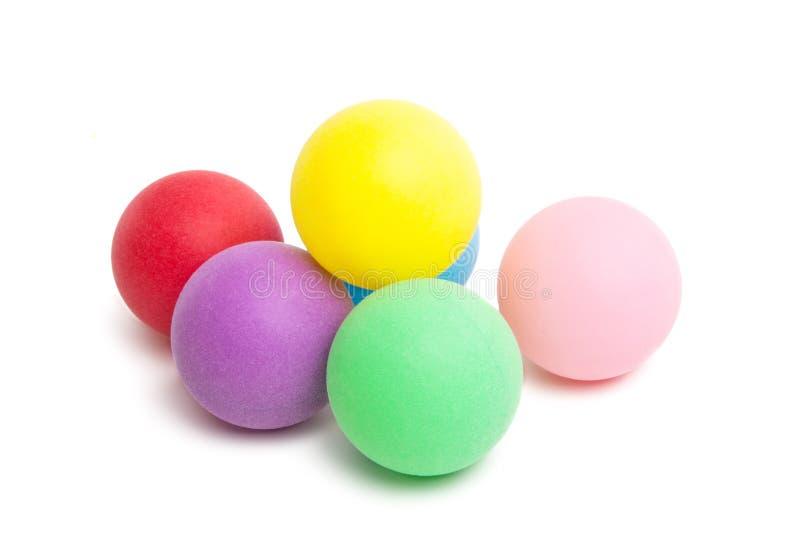 Palle da ping-pong isolate fotografia stock