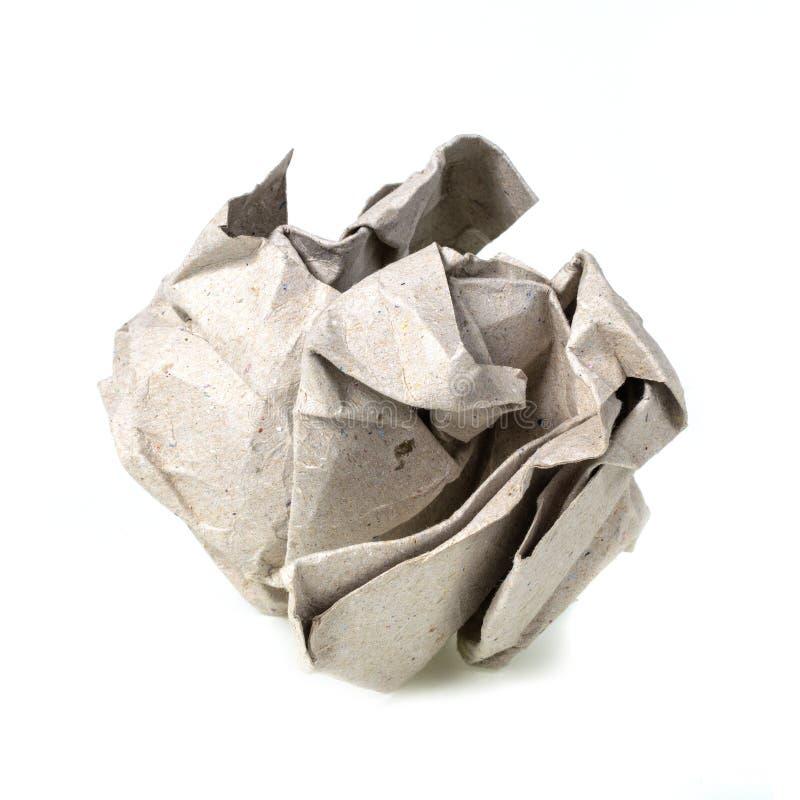 Palle di carta sgualcite isolate su bianco fotografie stock