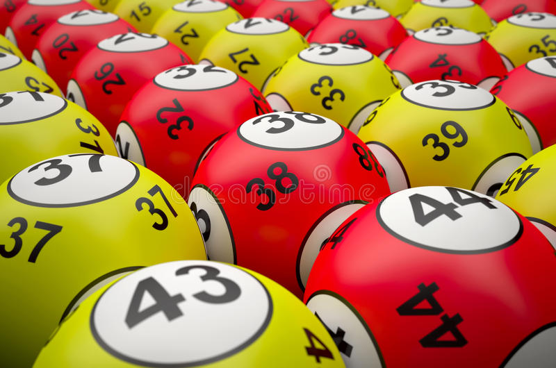 Palle di lotteria fotografie stock
