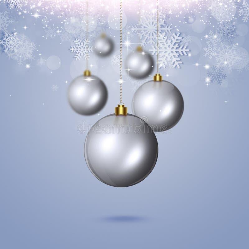 Palle di Natale di vacanza invernale illustrazione vettoriale
