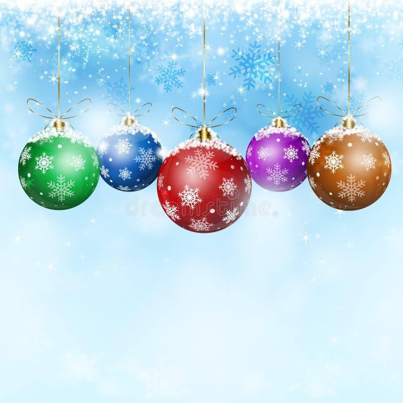 Palle di Natale di festa illustrazione vettoriale