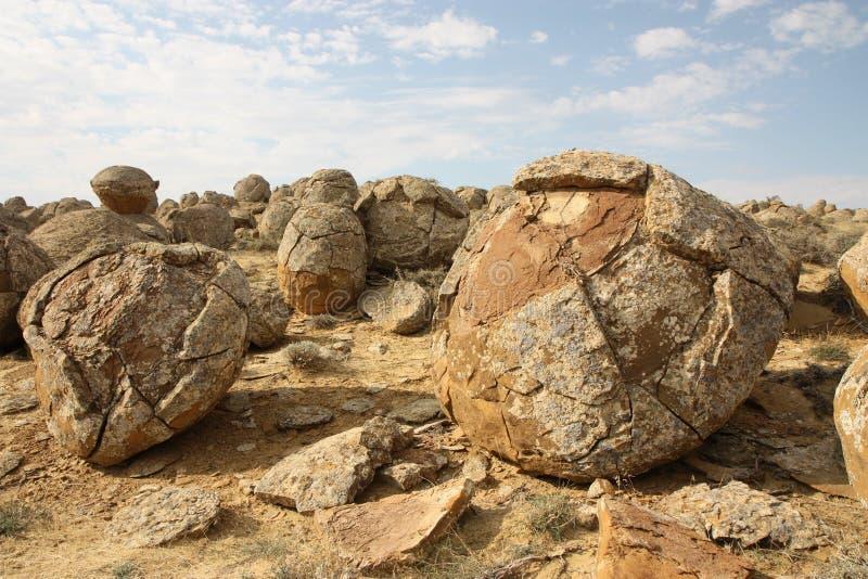 Palle di pietra fotografia stock