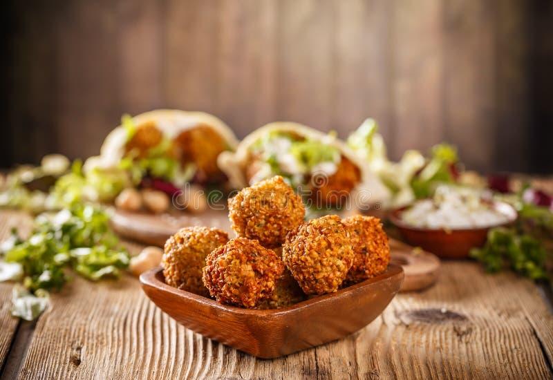 Palle fresche del falafel immagine stock