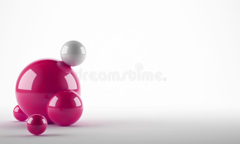 Palle rosa astratte