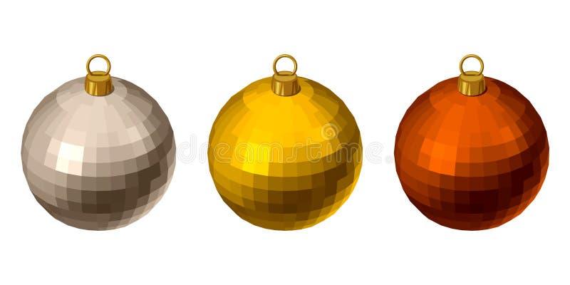 Palle variopinte di Natale. illustrazione vettoriale
