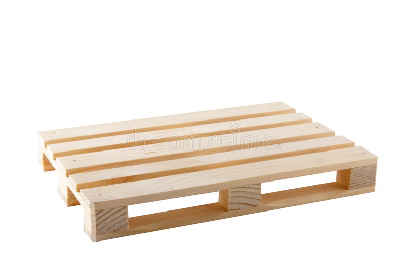 Empty Pallet. Wooden shipping pallet isolated on white