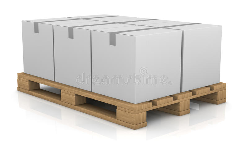 Download Pallet and carton box stock illustration. Image of stack - 22438192