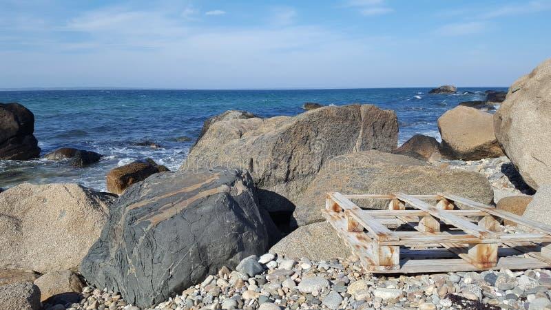 Pallet della spiaggia fotografia stock libera da diritti