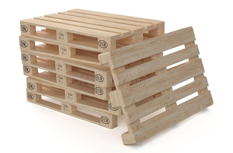 Pallet di legno di EUR illustrazione vettoriale
