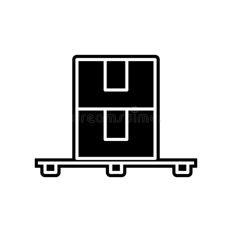 Pallet icon. Element of logistics for mobile concept and web apps icon. Glyph, flat icon for website design and development, app royalty free illustration