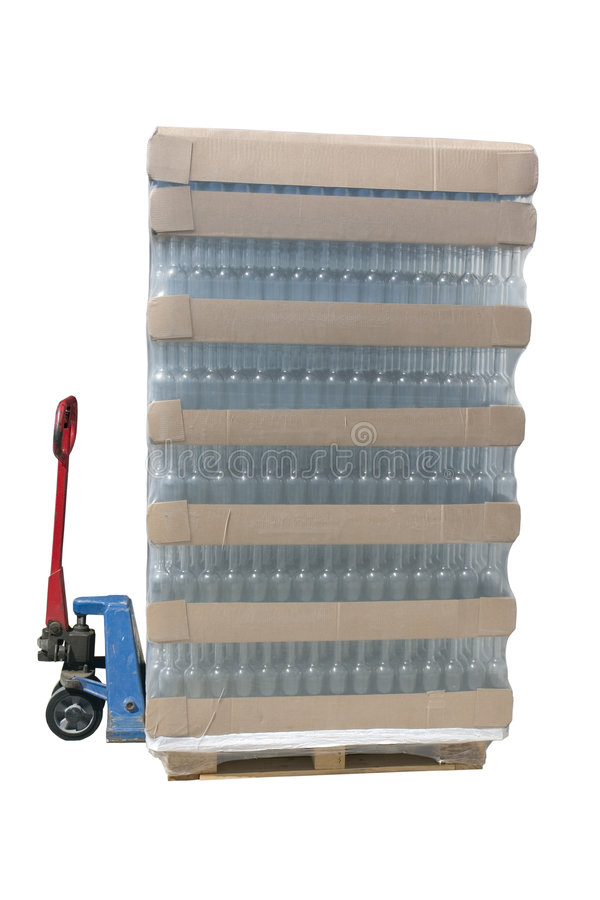 Download Pallet jack with a pallet stock image. Image of isolated - 3390135