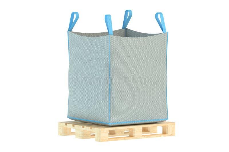 Pallet met grote zak vector illustratie