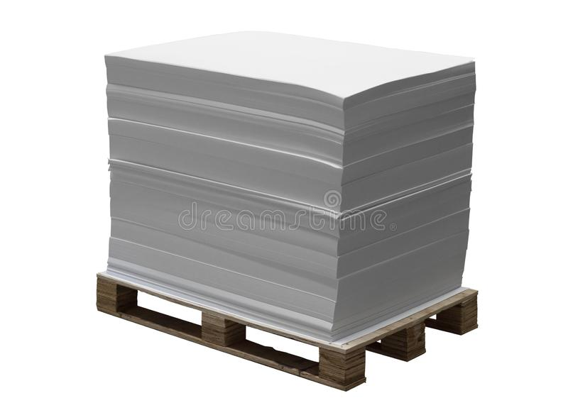 Pallet with offset paper royalty free stock photos