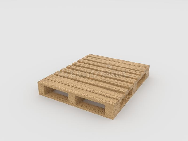 Pallet wood isolated on white background vector illustration
