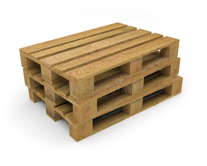 Pallet wood transport handling stock illustration