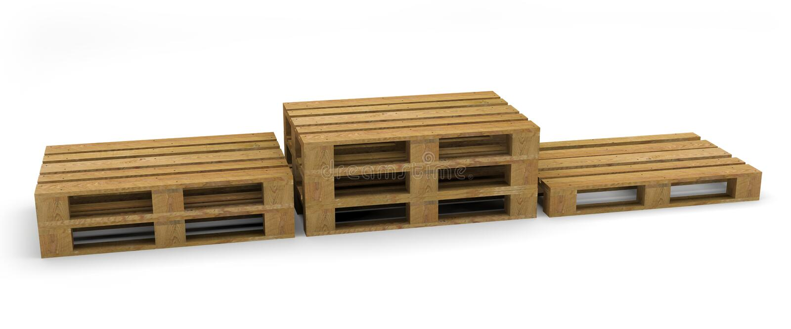 Pallet wood transport handling royalty free illustration