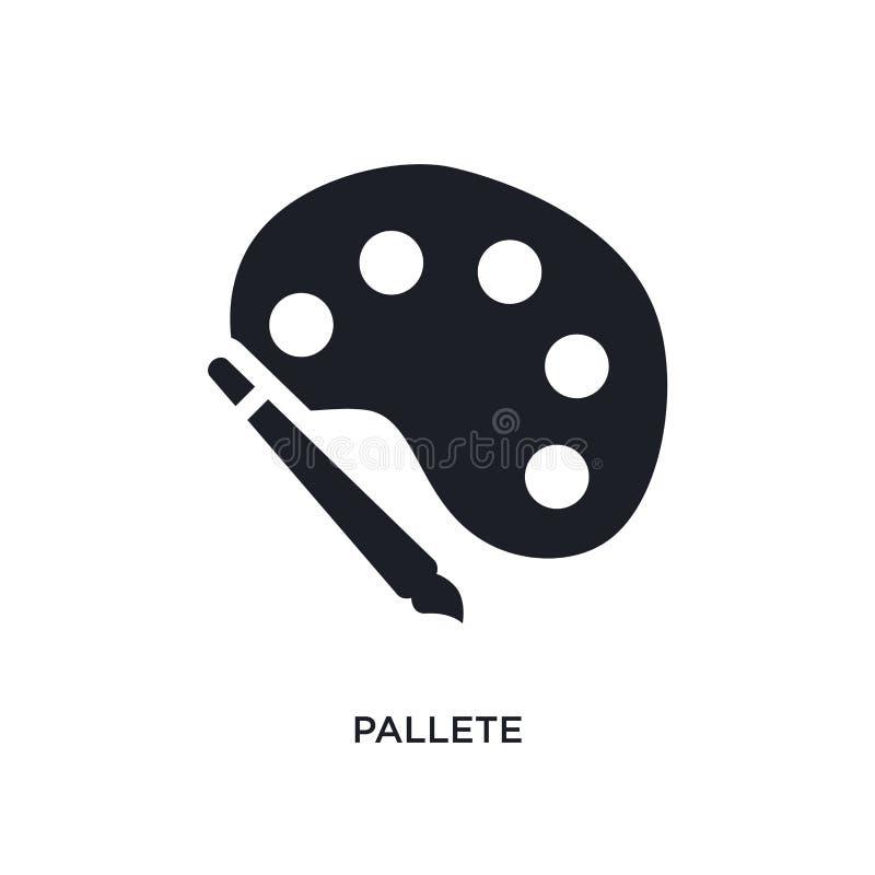 pallete geïsoleerd pictogram eenvoudige elementenillustratie van de pictogrammen van het bouwconcept pallete editable het symbool royalty-vrije stock fotografie