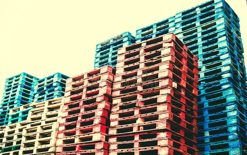 pallets stock afbeelding