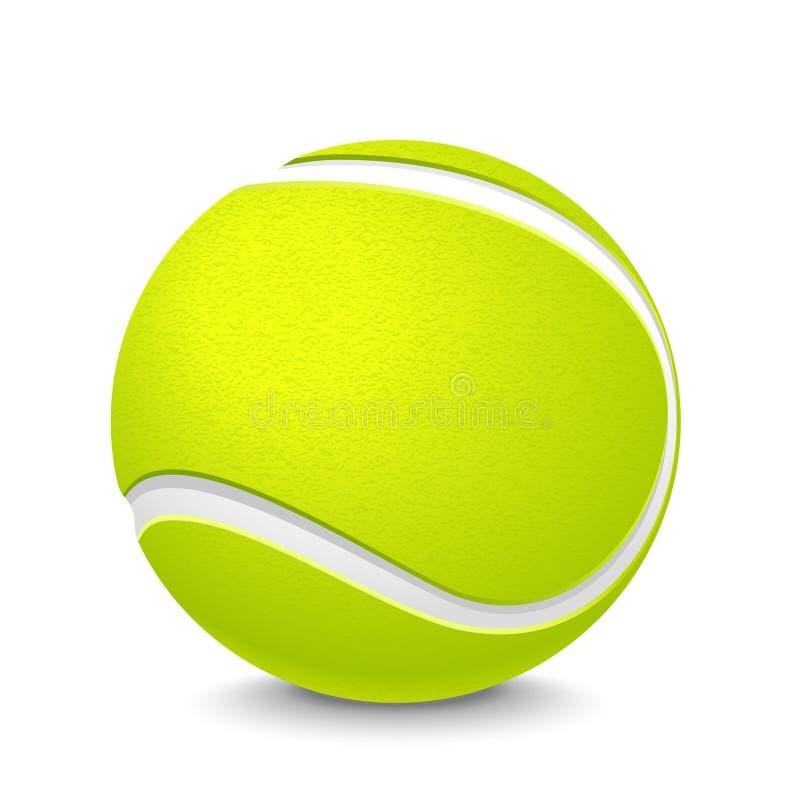 Pallina da tennis illustrazione di stock